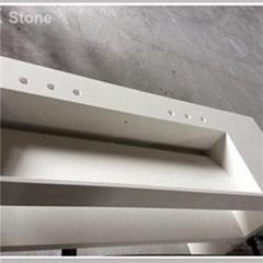 Indoor Decorative Stone Kitchen Countertop With Sinks Quartz