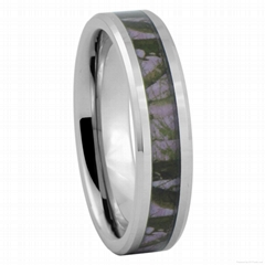 Vogue Jewelry Purple Tree Camouflage Ring Tungsten Carbide Camo Ring