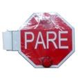 Spanish School Bus Stop Sign Pare
