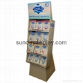Corrugated peg side wing display stand