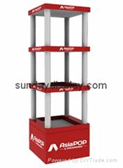 360 degree floor display rack