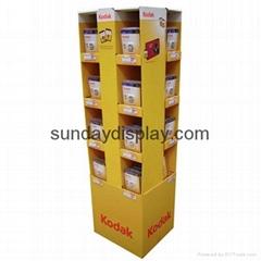 Corrugated shipping display unit