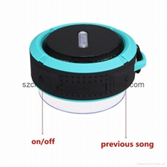 Waterproof Wireless Mini Bluetooth Speaker with Handsfree and Support TF Card