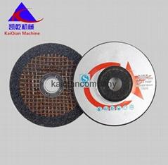 Black dual angle grinding ultra-thin stainless steel sheet metal cutting wheel