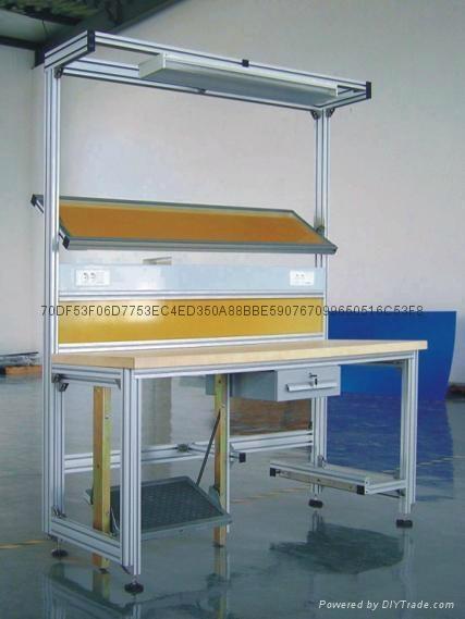 烟台铝型材工作台生产 1