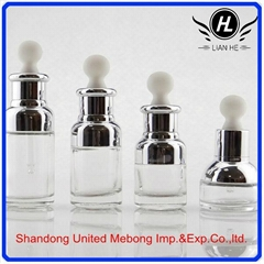 wholesale 20ml 30ml beauty care aluminium empty glass essential oil bottle with