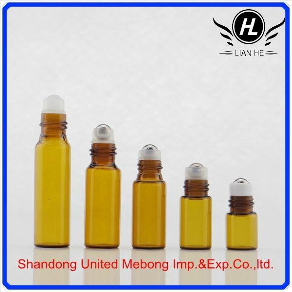 1/3 oz roll-on perfume bottle empty clear glass roll on bottle for perfume oil 1