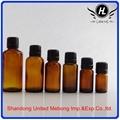 30ML amber printed glass cosmetic