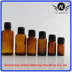 30ML amber printed glass cosmetic essential oil bottle filler.
