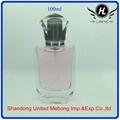 100ml transparent glass perfume bottle
