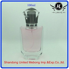 100ml transparent glass perfume bottle