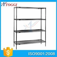 4 tier folding household chrome wire shelf