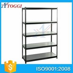 light duty steel slotted angle storage shelf racks