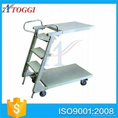 lightweight folding steel wide step ladder