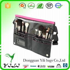 Factory hot sale PU Travel Cosmetic Bag for Essentials Makeup Brushes with be