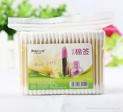 200pcs cosmetic sterile bamboo wooden stick cotton buds cotton swab manufacruer