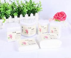 Hot sale 100pcs makeup cosmetic plastic stick cotton buds Q-tips cotton swabs