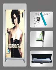 electronic roll up banner stand