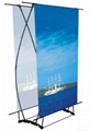 Fish style double side banner stand