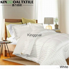 100% Silk Super King Size white Bedding Sets