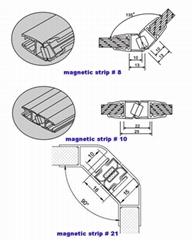 Magnetic seal strip