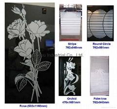 Silkscreen printed glass