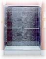 Frameless bypass shower door 1