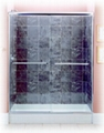 Frameless bypass shower door