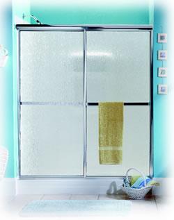Bypass shower door