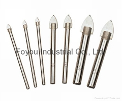Spearhead tile drilling bit