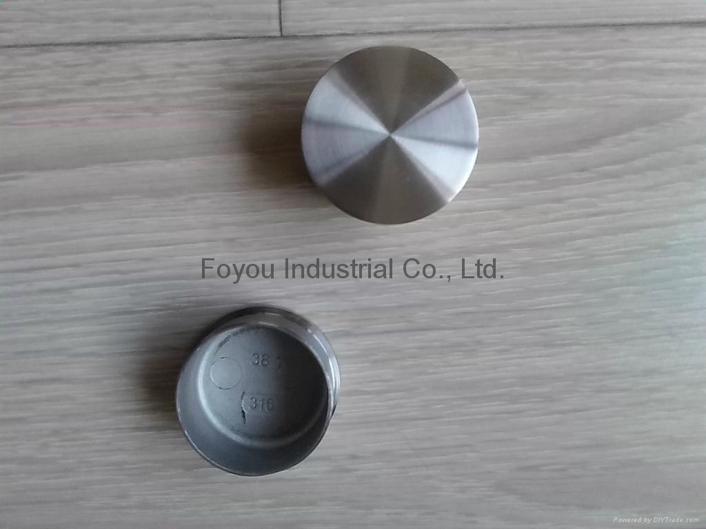 Stainless steel pipe fitting end cap 2
