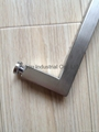 Square tube glass door handle