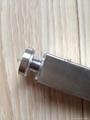 Square tube glass door handle
