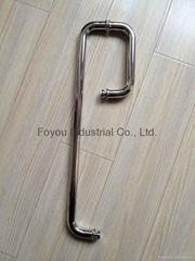 Stainless steel combo handles for glass door