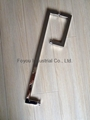 Stainless steel square tube combo handles for glass door