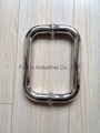 Stainless steel back to back glass door handle