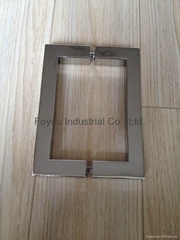Stainless steel square tube back to back glass door handle