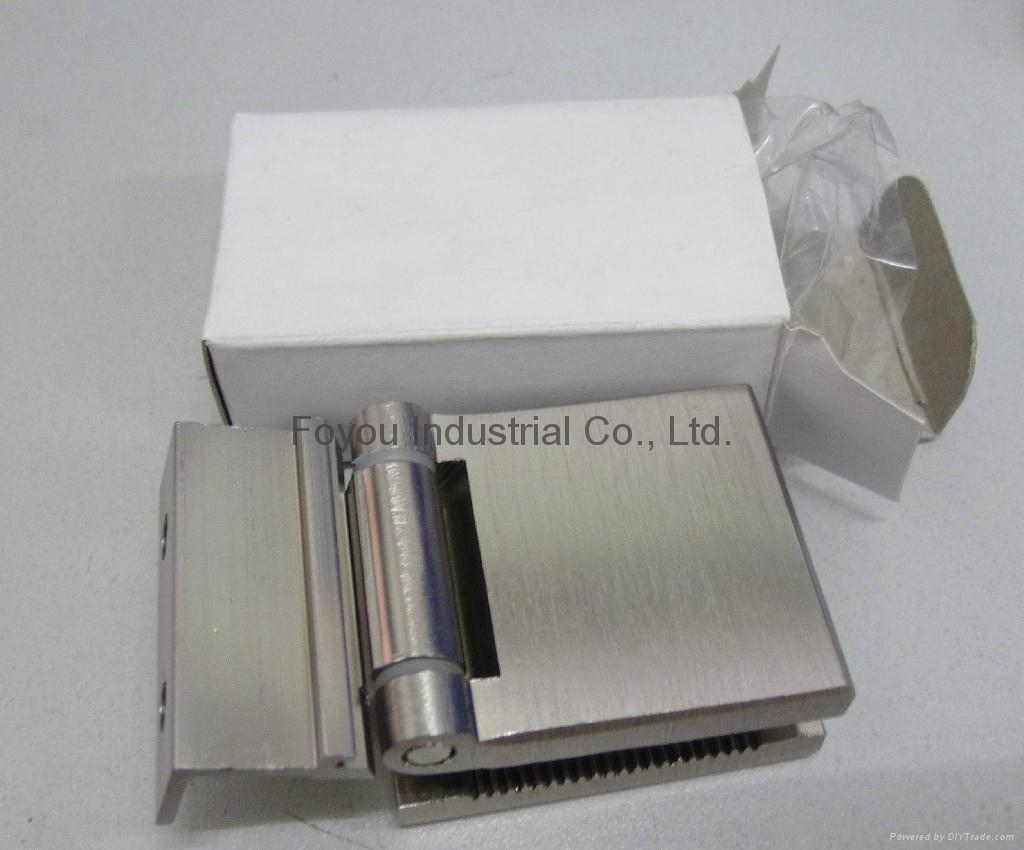 Aluminium hinge for clamping glass door 1