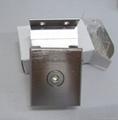 Aluminium hinge for clamping glass door