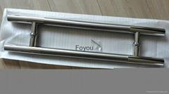 stainless steel H shape glass door handle