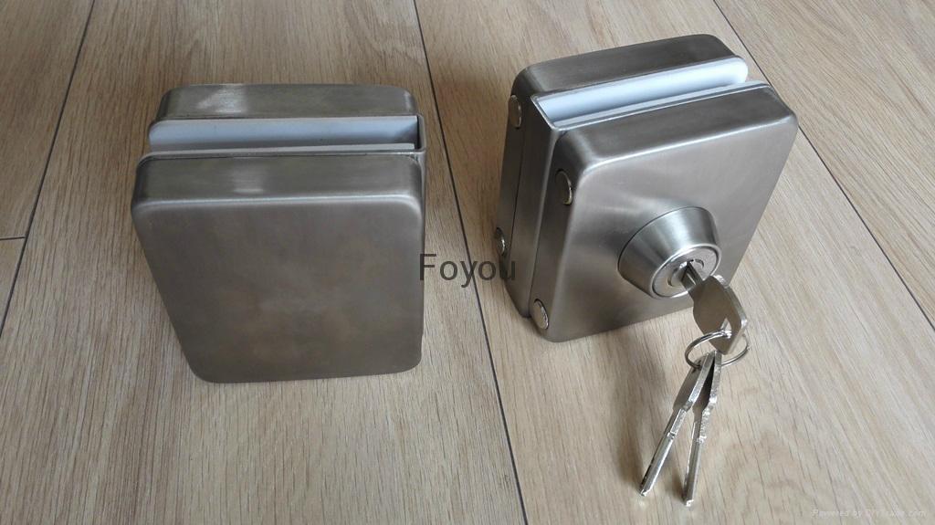 Stainless steel lock for glass door