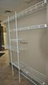Wire closet shelving