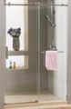 Big-roller shower door