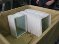 Refrigerator glass shelf