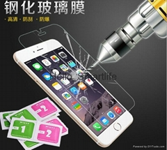 For iPhone 5 5S SE 6 6S Plus Tempered Glass Screen Protector membrane 0.3mm 2.5D