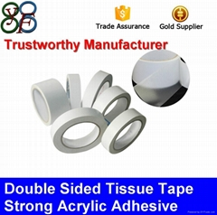 High Adhesive PET Double Sided Tissue Tapes