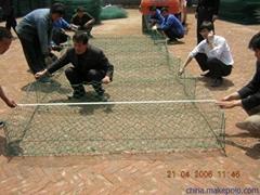 东北三省河道治理铅丝石笼包塑格宾网