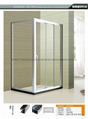 FS - 813 aluminum alloy shower door is