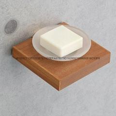 中式仿古工艺木质架漱口杯 独家新款漱口杯架 单皂碟架 香皂架木