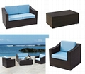 leisure modern rattan garden sofa chair table set GR-6011